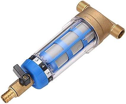 Acero inoxidable Cobre grifo purificador de agua pre-filtro de ...