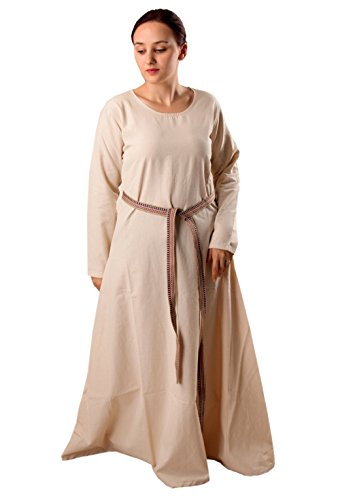 Lena Medieval Viking Renaissance Cotton Women Underdress - Made in Turkey, XL-Natural ()