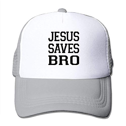 Men&Women Jesus Saves Bro Christian Graphic Design Outdoor Hip Hop Mountaineering Cotton Mesh Caps Hats Adjustable (Ashes Of American Flags Dvd)