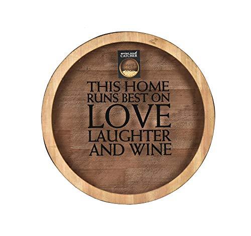 Fetco Wine Quote Cork Catcher Decorative Wall Art, Brown