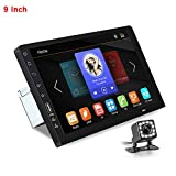 CarThree 9 Inch Single Din Car Stereo HD 1080P Car Radio Touch Screen with Mirror Link Rear View Camera Bluetooth FM Radio Tuner AUX/USB MP3/MP4/MP5 Player