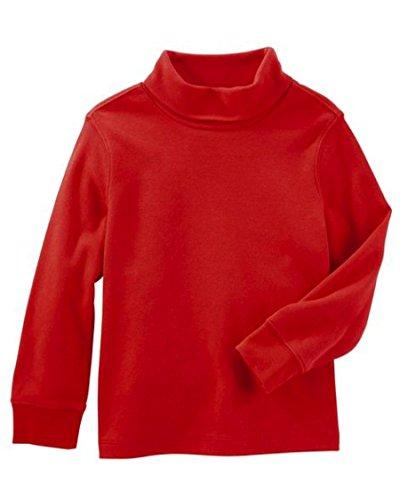 Playera o camiseta térmica para niño cuello de tortuga manga larga color  rojo 100% algodón 86dbd70b2fb9f