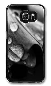 VUTTOO Rugged Samsung Galaxy S6 Case, Rain Drops Dew Closeup Hardshell Case for Samsung Galaxy S6 PC Black