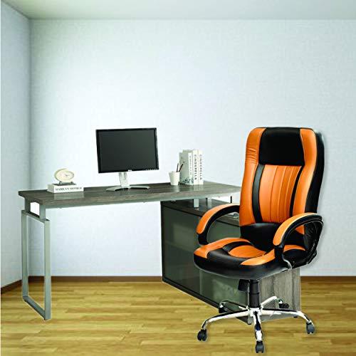 High Living High-Back Executive Office Chair   Desk Chair – Tan & Black (HEERA)