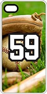 Baseball Sports Fan Player Number 5c9 White Rubber Decorative iPhone 5c Case