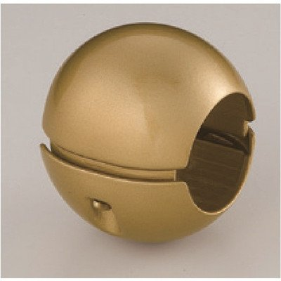 〔10個セット〕階段手すり滑り止め 『どこでもグリップ』ボール形 亜鉛合金 直径38mm AG シロクマ 日本製[通販用梱包品] B07DMSZTRQ