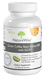 NatureWise Green Coffee Bean Extract 800 with GCA Natural Weight Loss Supplement, 2 pack (60 capsules each) by NatureWise