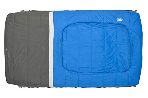 Sierra Designs Frontcountry Bed: 35 Degree Synthetic Blue/Grey Sleeping Bag (Duo)
