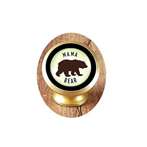 Mama Bear Keychain Rustic New Future Mom Saying Bronze Family Inspired Pendant Bear Jewelry For Women Gift Magnetic Car Phone Mount Holder -