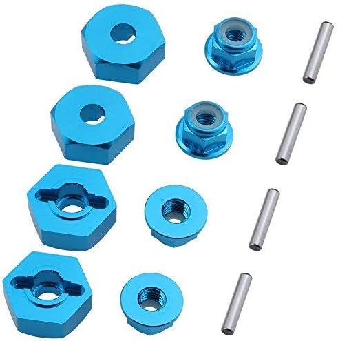 4P /& M4 Locknut RC Model Car Parts Blue 4P Hobbypark 12mm Aluminum Wheel Hex Drive Hub Adaptor