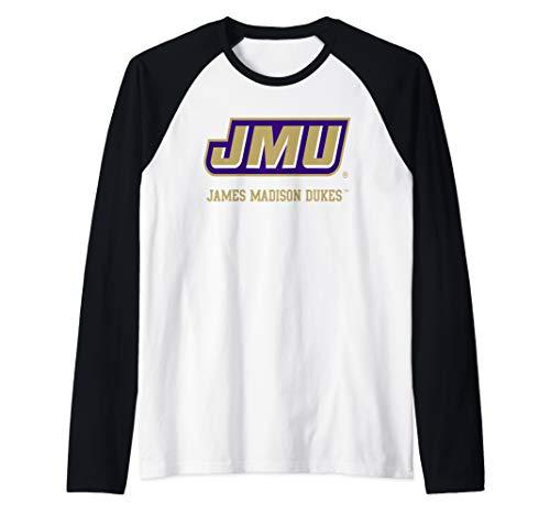 (James Madison JMU Dukes NCAA PPJMU03 Raglan Baseball Tee)