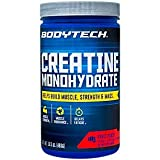 BodyTech 100 Pure Creatine Monohydrate 5GM, Fruit Punch Improve Muscle Performance, Strength Mass (16.5 Ounce Powder)