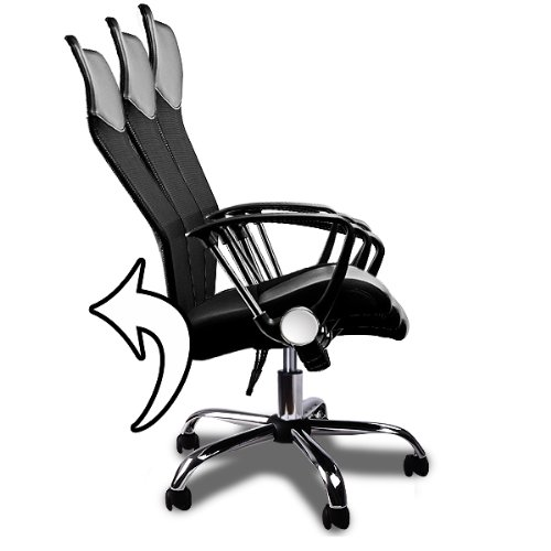 Malta Office Chair M 8001 Metal Base Removable Arms Black Mesh