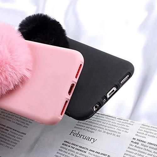 SHOPUS   Furry Love Hearts Cute Hair Phone Case for Samsung Galaxy