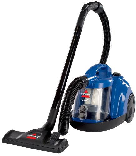Bissell Zing Rewind Bagless Canister Vacuum, Caribbean Blue – Corded