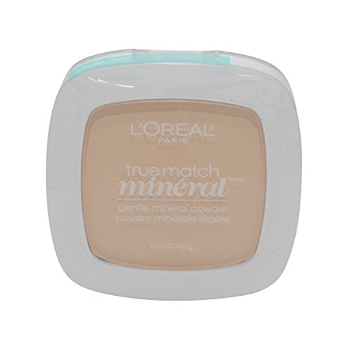 3 Pack- L'Oreal True Match Mineral Instant Shine Eraser Powder #W1-2/404 Light Ivory