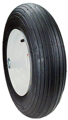 Maxpower 335260 8-Inch Wheelbarrow Wheel Assembly Rib ()