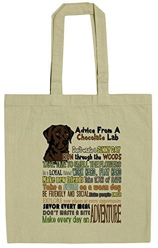 Retriever Tote Bag - Advice From A Chocolate Lab Labrador Retriever Canvas Tote Bag