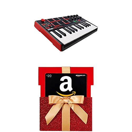Akai Professional MPK Mini MKII | 25-Key Portable USB MIDI Keyboard With$20 Amazon.com Gift Card