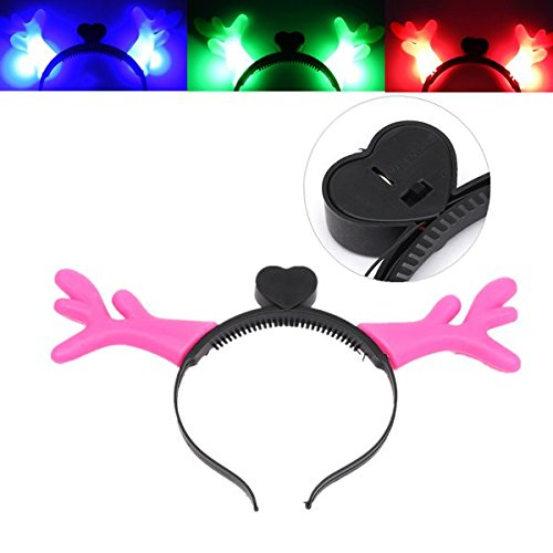Light-Up Cartoon Antlers Ears Headband LED Flashing Costume Party Christmas Gift (Austin Party City)