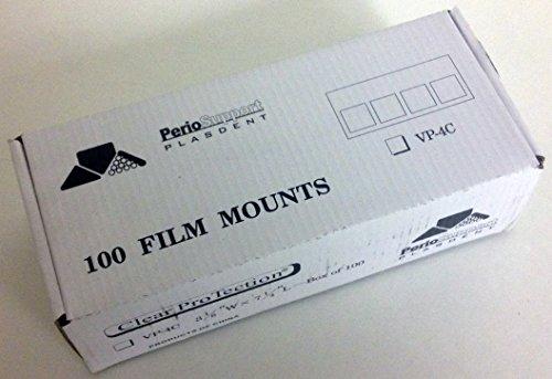 Plasdent VP-4C Vinyl Film Mounts 100/Box by Plasdent