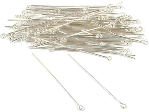 925 Sterling Silver 2.5mm Open Eye Pins 22GA 24GA Wire Gauge 1 1.5 2 Findings//Bright