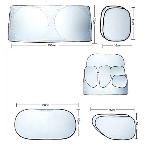 ventana lateral y trasera /Parasol de coche para parabrisas ronteix Cables de los rayos ultravioleta de bloque de poli/éster/ 6/en 1/Pack