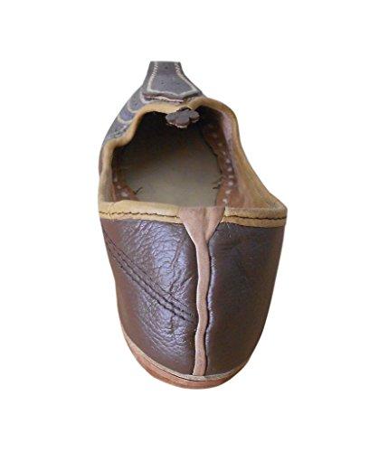 KALRA Creations Herren Schuhe Traditionelle indische Leder Ethno Braun