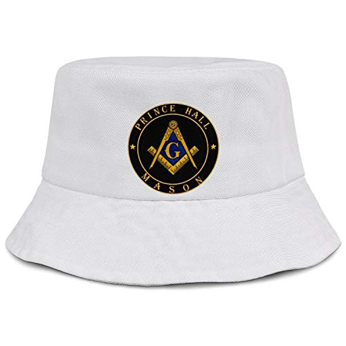 (WJINX Prince Hall Masonic Printed Unisex Novelty Fisherman Bucket Hat Wide Brimmed Sun Hat)