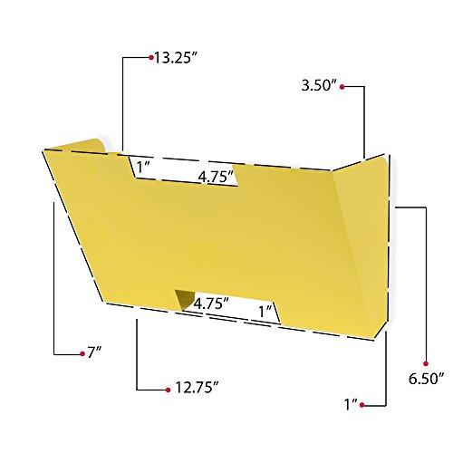 Wallniture Lisbon Yellow Wall Mount Metal File Holder