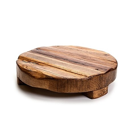 etuHOME 14-Inch Round Reclaimed Wood Trivet by etuHOME®