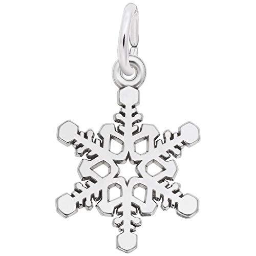 Rembrandt Charms Snowflake Charm, 14K White Gold (Charm Snowflake White Gold 14k)