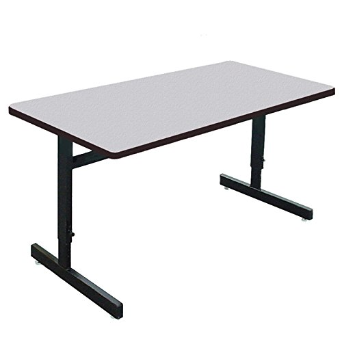 Correll CSA3060M School/Office/Computer and Training Table, 30'' x 60'' Adjustable Height, Gray Granite Top by Correll