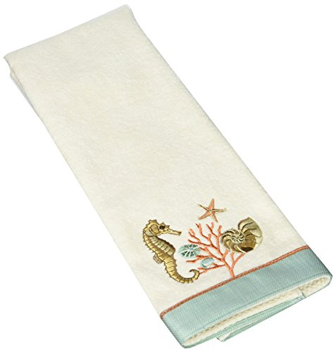 Avanti Linens 038272IVR Seaside Vintage Hand Towel, Medium, Ivory (Vintage Seaside)