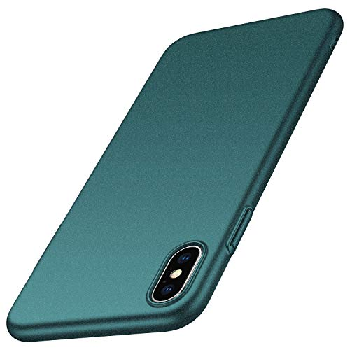 Almiao for iPhone Xs/iPhone X Case, [Ultra-Thin] Minimalist Slim Protective Phone Case Back Cover for iPhone X/XS 5.8 inch (Gravel Green)