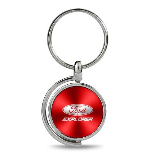 Ford Explorer フォード エクスプローラー つや消しスピンメダル キーホルダー レッド B00GFZRID6