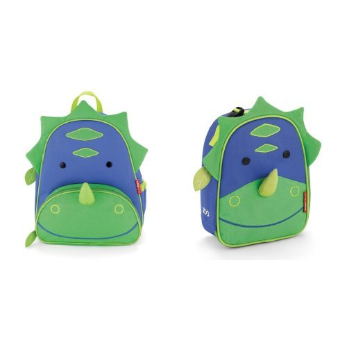 Skip Hop Zoo Backpack and Lunchie Set, Dinosaur