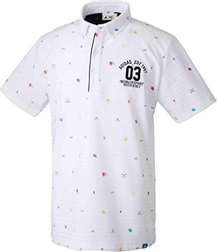 (adidas Golf(アディダスゴルフ) adidas Golf(アディダスゴルフ) ADICROSS マウンテンモノグラム ショートスリーブ ボタンダウンシャツ