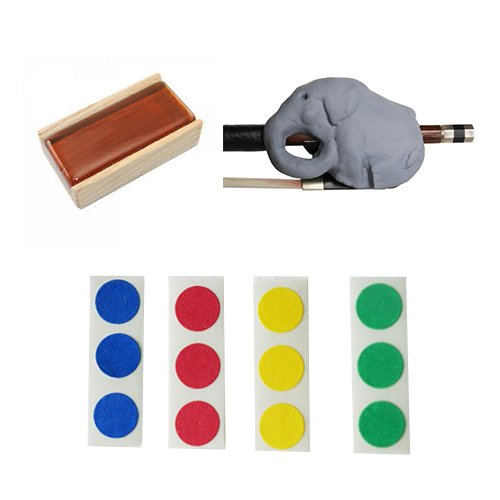 Cello Bow Practice Aid Pack - Includes Grey Cellophant, Rosin, & Finger Markers Cello_Bow_Aids Cello Bow Guides