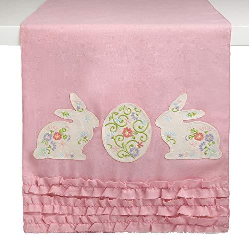 Nantucket Home Springtime Easter Embellished Fabric Table Runner, 72