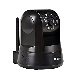 4PCS TENVIS TZ100 HD Wireless IP/Network Security Surveillance Camera, Remote Video Monitoring, Snapshot, Store Video,Pan & Tilt, Plug & Play, with Night Vision, Motion Detection with Alert (Black)