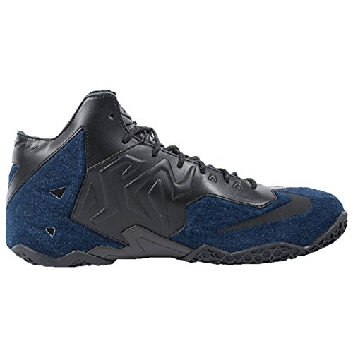 Nike Lebron Xi Ext Denim Qs 659509 004 Svart / Denim Menns Basketball Sko Blå