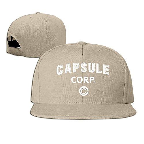 [Dragon Dall Capsule Corp Baseball Snapback Hat Natural] (Fruit Hat Lady)