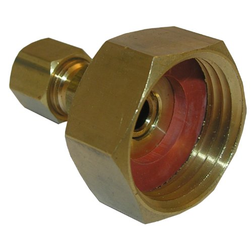 (LASCO 17-8381 3/4-Inch Female Garden Hose by 1/4-Inch Compression Brass Adapter)