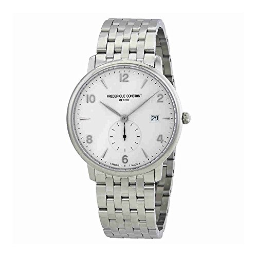 Frederique Constant Men's 'SlimLine' Swiss Quartz Stainless Steel Dress Watch, Color:Silver-Toned (Model: FC-245SA5S6B) - 411ZnGV2OvL - Frederique Constant Men's 'SlimLine' Swiss Quartz Stainless Steel Dress Watch, Color:Silver-Toned (Model: FC-245SA5S6B)
