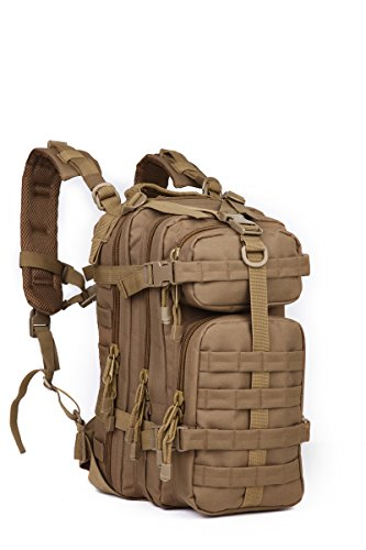 Sport Outdoor Military Rucksacks Tactical Camping Hiking Trekking Small Assault Backpack Bag 08009B Coyote