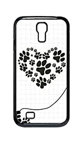 Cool Painting dog paw Snap-on Hard Back Case Cover Shell for Samsung GALAXY S4 I9500 I9502 I9508 I959 -1428