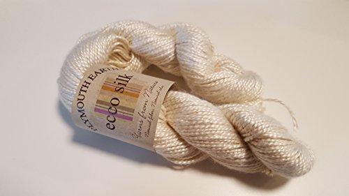 Plymouth Earth Ecco Silk Yarn 100 Cream