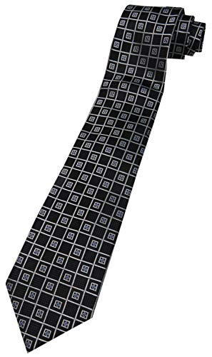 Men's Donald Trump Signature Collection Necktie Neck Tie Silk Black, Silver and Blue - Collection Signature Trump