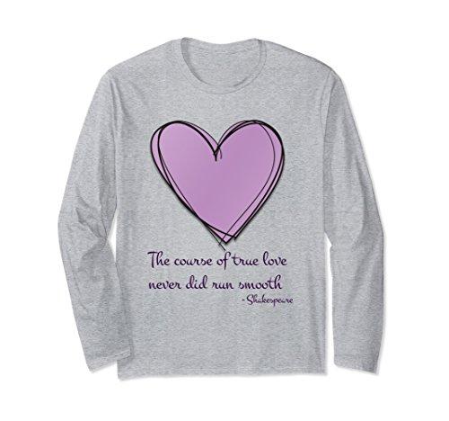 Unisex Shakespeare True Love Quote Shirt Medium Heather (True Love Tee)